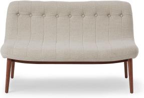 An Image of Halbert 2 Seater Sofa, Oat Weave