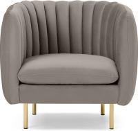 An Image of Helma Accent Armchair, Alaska Grey Velvet