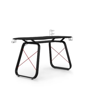 An Image of Oblivion Gaming Desk Black