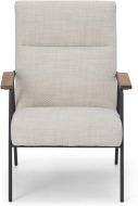 An Image of Merle Accent Armchair, Ecru Loop Textured Boucle
