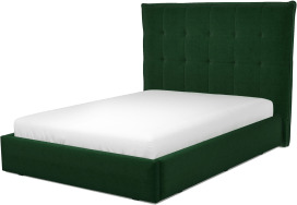 An Image of Lamas Double Ottoman Storage Bed, Bottle Green Velvet