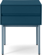 An Image of Donica Bedside, Sapphire Blue