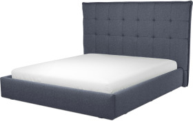 An Image of Lamas Super King Size Ottoman Storage Bed, Navy Wool