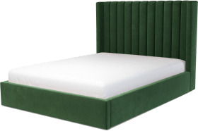 An Image of Cory King Size Ottoman Storage Bed, Lichen Green Cotton Velvet