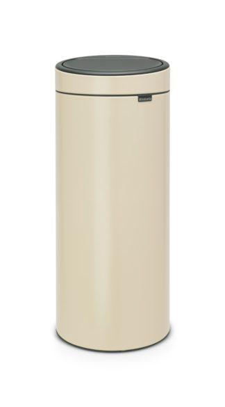 An Image of Brabantia 30 Litre Touch Bin - Almond