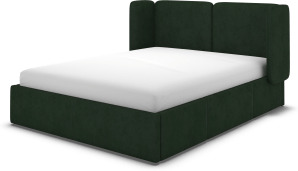 An Image of Ricola Super King Size Bed with Storage Drawers, Bottle Green Velvet