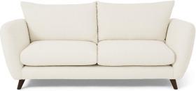 An Image of Elmira 3 Seater Sofa, Ivory White Boucle