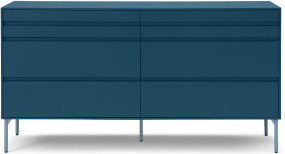 An Image of Donica Wide Chest of Drawers, Sapphire Blue