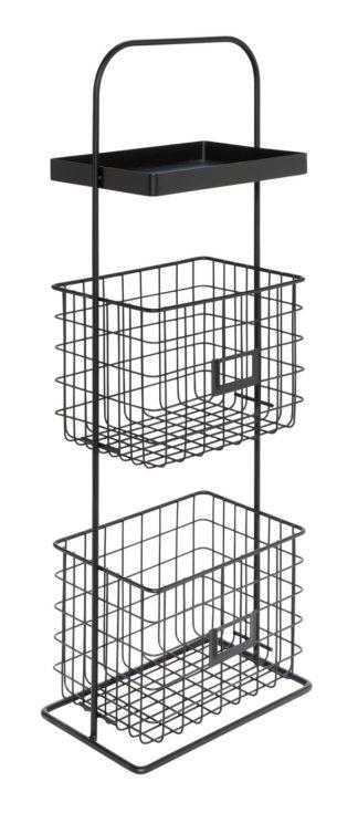 An Image of Argos Home Free Standing 2 Tier Wire Unit - Matt Black