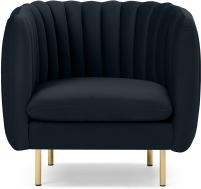 An Image of Helma Accent Armchair, Twilight Blue Velvet