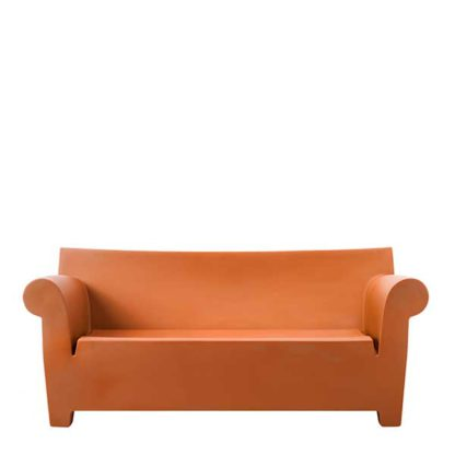 An Image of Kartell Bubble Sofa Ochre - Barker & Stonehouse