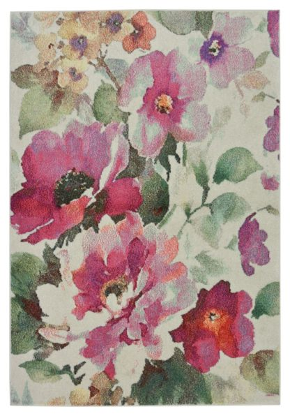 An Image of Vintage Floral Rug - 80x150cm - Blush