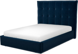 An Image of Lamas Double Ottoman Storage Bed, Regal Blue Velvet