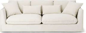 An Image of Kasiani 4 Seater Sofa, Off White Cotton & Linen Mix