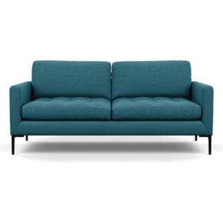 An Image of Heal's Eton 3 Seater Sofa Brushed Cotton Cadet Black Feet