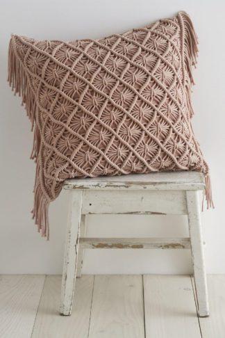 An Image of Macrame Diamond Cushion