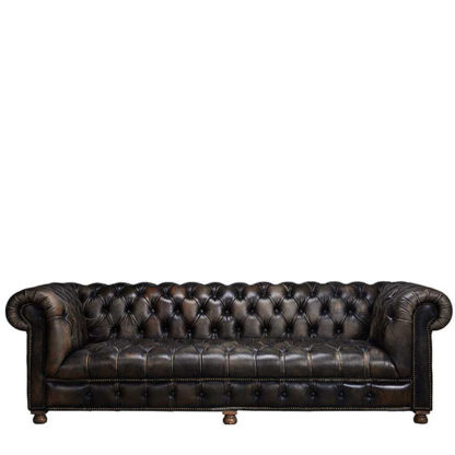 An Image of Timothy Oulton Westminster Button 2.5 Seater Chesterfield Sofa Vagabo - Barker & Stonehouse