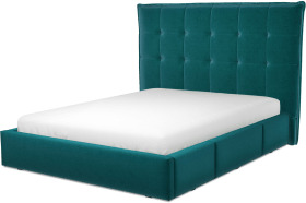 An Image of Lamas King Size Bed with Storage Drawers, Tuscan Teal Velvet