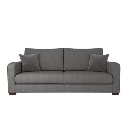 An Image of Carson Corduroy 4 Seater Sofa Emerald Green