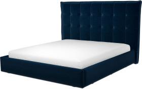 An Image of Lamas Super King Size Ottoman Storage Bed, Regal Blue Velvet