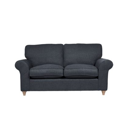 An Image of Rosa Fabric 2 Seater Sofa Navy