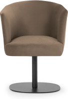 An Image of Revy Office Chair, Soft Mink Velvet & Black