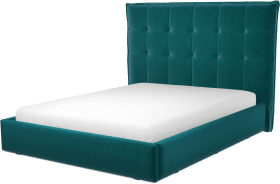 An Image of Lamas King Size Ottoman Storage Bed, Tuscan Teal Velvet