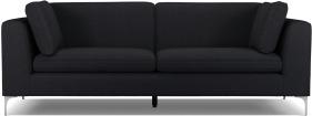 An Image of Monterosso 3 Seater Sofa, Elite Slate with Chrome Leg