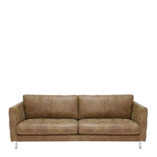 An Image of Lars 3.5 Seater Leather Sofa - Barker & Stonehouse