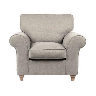 An Image of Rosa Fabric Armchair Grey