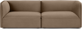 An Image of Torkel 3 Seater Sofa, Taupe Velvet
