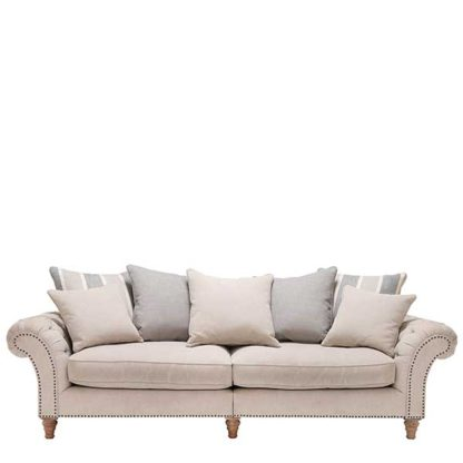 An Image of Craven Grand Sofa With Studs - Barker & Stonehouse