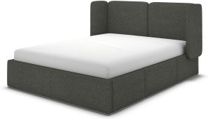 An Image of Ricola King Size Bed with Storage Drawers, Granite Grey Boucle