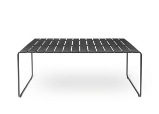 An Image of Mater Ocean Outdoor Table Black Large