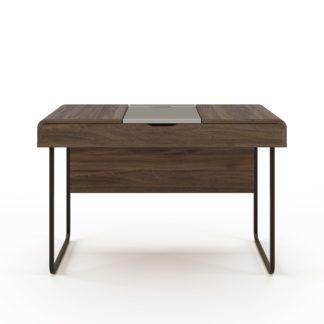 An Image of Dorset Desk with Sliding Desktop Walnut (Brown)