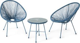 An Image of 2 Seat Garden Aperitif Set, Blue
