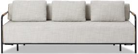 An Image of Nestor Sofa Bed, Ecru Loop Textured Boucle
