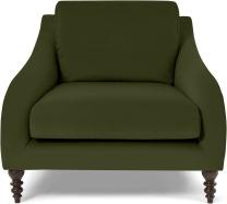 An Image of Andrin Armchair, Moss Eco Velvet