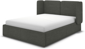 An Image of Ricola Super King Size Ottoman Storage Bed, Granite Grey Boucle