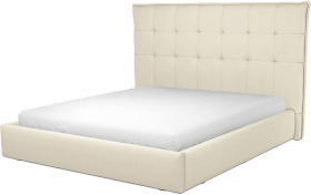 An Image of Lamas Super King Size Ottoman Storage Bed, Putty Cotton
