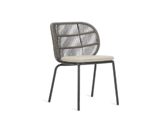 An Image of Vincent Sheppard Kodo Outdoor Dining Chair Almond