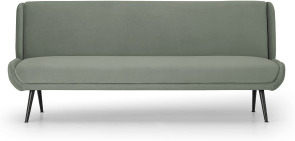 An Image of Moby Click Clack Sofa Bed, Sage Green Velvet