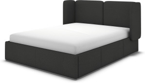 An Image of Ricola Super King Size Bed with Storage Drawers, Etna Grey Wool