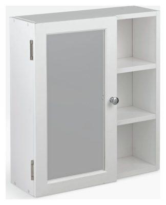 An Image of Argos Home 1 Door Open Shelf Mirrored Cabinet