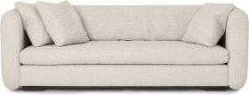 An Image of Nikita 3 Seater Sofa, Oatmeal Textured Weave
