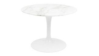 An Image of Knoll Saarinen Tulip Round Side Table Calacatta Marble Small