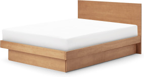 An Image of Meiko Super King Size Bed with Drawer Storage, Pine