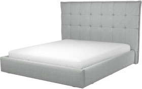 An Image of Lamas Super King Size Ottoman Storage Bed, Wolf Grey Wool