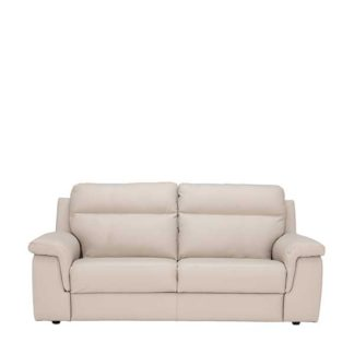 An Image of Fulton 3 Seater Leather Sofa - Barker & Stonehouse