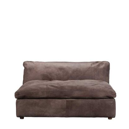 An Image of Timothy Oulton Zenna Small Sectional 1 Seater Safari Charcoal - Barker & Stonehouse